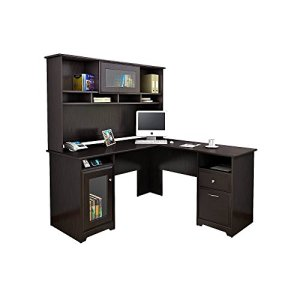 Best Dual Monitor Computer Desk with Hutch