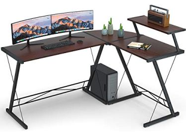 Coleshome L-Shaped Desk with Round Corner